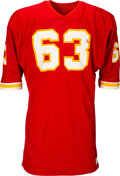 Football Collectibles:Uniforms, Early to Mid 1970's Willie Lanier Game Worn Kansas City Chiefs Jersey - With Multiple Team Repairs! ...