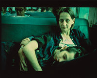 Nan Goldin (American, b. 1953) Suzanne, Philippe on the Train, Long Island, 1985 Cibachrome 13 x