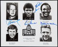 Autographs:Photos, 1986 Pro Football Hall of Fame Multi-Signed Photograph (4 Signatures).. ...
