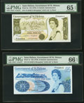 World Currency, Saint Helena Government of Saint Helena £1; £5 ND (1976) Pick 6a;7a.. ... (Total: 2 notes)