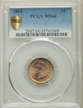 Indian Cents: , 1863 1C MS64 PCGS Secure. PCGS Population: (1004/373 and 38/46+). NGC Census: (672/249 and 13/9+). MS64. Mintage 49,840,000...
