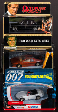 You Only Live Twice & Others Lot (Corgi, 2001-2002). Die-Cast Model Cars (3) (1:36 - 1:43 Scale). James Bond...