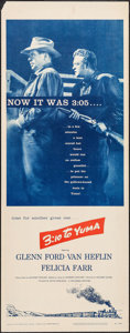"""Movie Posters:Western, 3:10 to Yuma (Columbia, 1957). Rolled, Very Fine-. Insert (14"""" X36""""). Western.. ..."""