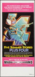 "Movie Posters:Documentary, Five Summer Stories Plus Four (Associated Screen Arts, 1976). Australian Daybill (13"" X 30""). Rick Griffin Artwork. Surfing ..."