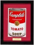 Miscellaneous Collectibles:General, Andy Warhol Campbell's Tomato Soup Can Framed Print....