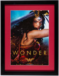 Miscellaneous Collectibles:General, Wonder Woman Framed Movie Poster.. ...