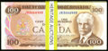 Canadian Currency, BC-52a $100 1975 Consecutive Pack of 100 Notes. Gem Crisp Uncirculated.. ... (Total: 100 notes)