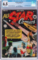 All Star Comics #13 (DC, 1942) CGC FN+ 6.5 White pages
