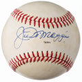 Autographs:Baseballs, Joe DiMaggio Cracker Jack Old Timers Baseball Classic Single Signed Baseball.. ...