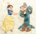 Animation Art:Limited Edition Cel, Snow White and Dopey Limited Edition Cel #130/275 (Walt Disney,1987)....