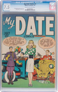 Golden Age (1938-1955):Romance, My Date Comics #1 (Hillman Publications, 1947) CGC VF- 7.5 Cream tooff-white pages....