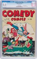 Golden Age (1938-1955):Funny Animal, Comedy Comics #21 (Timely, 1944) CGC VF 8.0 White pages....