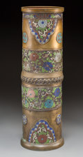 Asian:Japanese, A Japanese Kutani Cloisonné Umbrella Stand. 24 h x 7-1/4 inches Dia. ...