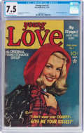 Golden Age (1938-1955):Romance, Young Love #7 (Prize, 1949) CGC VF- 7.5 White pages....