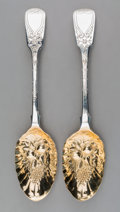 Silver & Vertu:Flatware, Two British George IV Parcel-Gilt Silver Berry Spoons, George Baskerville, London, England, 1823; Hyam Hyams, London, Englan... (Total: 2 Items)