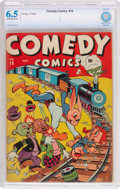 Golden Age (1938-1955):Funny Animal, Comedy Comics #19 (Timely, 1943) CBCS FN+ 6.5 Off-white to whitepages....