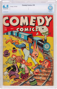 Comedy Comics #19 (Timely, 1943) CBCS FN+ 6.5 Off-white to white pages