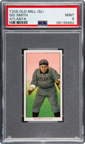 Baseball Cards:Singles (Pre-1930), 1909-11 T206 Old Mill Sid Smith (Atlanta) PSA Mint 9 - Pop One, None Higher! ...