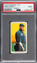 Baseball Cards:Singles (Pre-1930), 1909-11 T206 Piedmont 150 Frank Smith (Chicago, F. Smith) PSA Mint 9 - Pop Two, None Higher!. ...