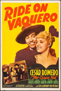 "Movie Posters:Western, Ride on Vaquero (20th Century Fox, 1941). One Sheet (27.25"" X 41.25""). Western.. ..."