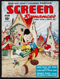 """Movie Posters:Animation, Pinocchio in Screen Romances (Dell Publishing, 1940). Magazine (74 Pages, 8.5"""" X 11.5""""). Animation.. ..."""