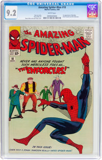 The Amazing Spider-Man #10 (Marvel, 1964) CGC NM- 9.2 White pages