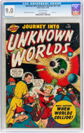 Golden Age (1938-1955):Science Fiction, Journey Into Unknown Worlds #37 (#2) (Atlas, 1950) CGC VF/NM 9.0Off-white pages....