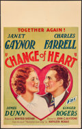 "Movie Posters:Drama, Change of Heart (Fox, 1934). Window Card (14"" X 22""). Drama.. ..."