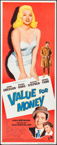 "Movie Posters:Comedy, Value for Money (Rank, 1955). Insert (14"" X 36""). Comedy.. ..."