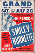 """Movie Posters:Western, Smiley Burnette (Globe Poster Corp., 1940's). Stage Performance Poster (17"""" X 26""""). Western.. ..."""