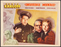 """Movie Posters:Mystery, The Invisible Menace (Warner Brothers, 1938). Other Company LobbyCard (11"""" X 14""""). Mystery.. ..."""