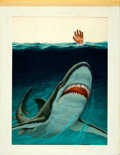 "Movie Posters:Horror, The Jaws of Death by Unknown (Cannon, 1976). Original AcrylicPoster Artwork (19"" X 24.25"").. ..."