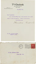 Miscellaneous Collectibles:General, 1910 President Theodore Roosevelt Signed Letter....