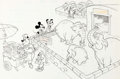 Animation Art:Production Drawing, Mickey Mouse and Friends At the Zoo Book Illustrations Group of 6(Walt Disney, c. 1970s-80s).... (Total: 6 Original Art)