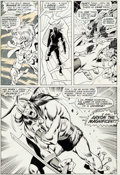 Original Comic Art:Panel Pages, John Buscema and Tom Palmer Avengers #75 Story Page 10Original Art (Marvel, 1970)....