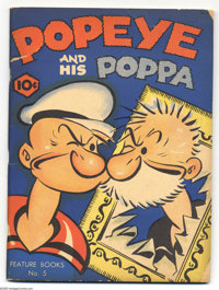 Feature Books File Copies Group (David McKay, 1937-38) Condition: Average GD+. This group includes #5 (Popeye, E.C. Sega...