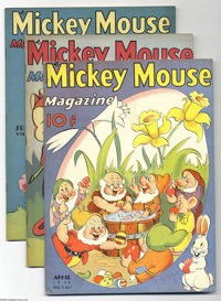 Mickey Mouse Magazine V3#7-V3#11 File Copies Group (K. K. Publications, Inc., 1937). These file copies are in FN conditi...