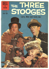 Three Stooges File Copies Group (Gold Key, 1960-68) Condition: Average FN/VF. Chucklehead alert! This short box contains...