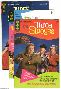 Three Stooges File Copies Group (Gold Key, 1963-69) Condition: Average VF/NM. Hey Moe, this group includes #11, #12, #13...