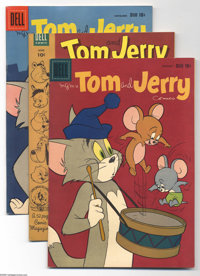 Tom and Jerry File Copies Group (Dell, 1953-62) Condition: Average VF. This lot consists of a full short box full of 10&...