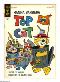 Top Cat File Copies Box Lot (Dell and Gold Key, 1961-68) Condition: Average VF+. This box contains approximately 120 com...