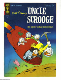 Uncle Scrooge File Copy Box Lot (Dell and Gold Key, 1956-76) Condition: Average VF-. This full short comic box contains...