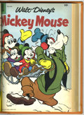 Silver Age (1956-1969):Humor, Dell Bound Volumes - Donald Duck and Mickey Mouse (Dell, 1957-59). These are file copies which have been trimmed and bound i...