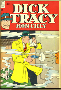 Dick Tracy Monthly #1-12 Bound Volume (Dell, 1948). This bound volume contains Western Publishing file copies of issues...