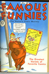 Famous Funnies #61-84 Bound Volume Group (Eastern Color, 1939-41) Condition: Average VG+. A favorite among early comics...