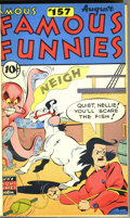 Golden Age (1938-1955):Miscellaneous, Famous Funnies Bound Volumes (Eastern Color, 1947-53). These three bound volumes contain #157-168, 169-180, and 193-204, res... (3 items)