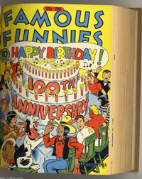 Famous Funnies #85-120 Bound Volumes (Eastern Color, 1941-44). This set of three volumes hail from the Western Publishin...