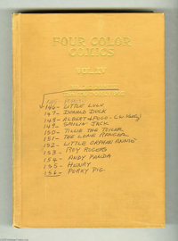 "Four Color #145-180 Bound Volumes (Dell, 1947). Dell's Four Color series of ""one-shot"" titles was a diverse se..."