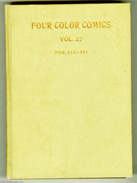 Four Color #313-384 Bound Volumes (Dell, 1950-52). This group of six bound volumes is a real gold mine of great Dell &qu...