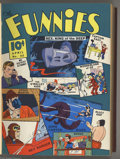 Golden Age (1938-1955):Miscellaneous, The Funnies #42-53 Bound Volume (Dell, 1940-41). The first appearance of Phantasmo, the first Dell superhero, is among the h...